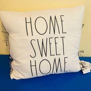 """REA DUNN """"HOME SWEET HOME"""" PILLOW NEW!"""